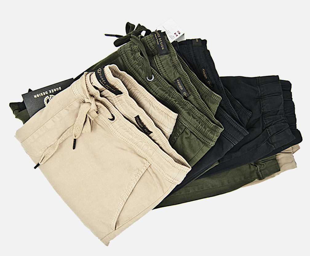 The most comfortable denim, twill joggers